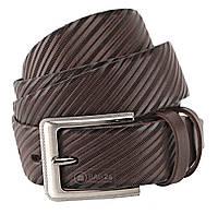 Добротный кожаный ремень для мужчин SHVIGEL 10049, Коричневый