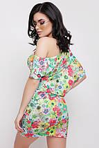 Летнее короткое платье с цветочным принтом (Jolie fup), фото 3