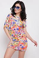 Летнее короткое платье с цветочным принтом (Jolie fup)
