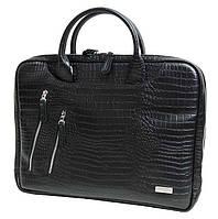 b357a092f506 Великолепная сумка для ноутбука Vip Collection Украина 2411A croc, Черный