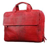 f085621b0460 Очаровательная сумка для ноутбука Vip Collection Украина 306R croc, Красный