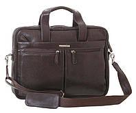 Удобная кожаная сумка для ноутбука Vip Collection Украина 50104B flat, Коричневый