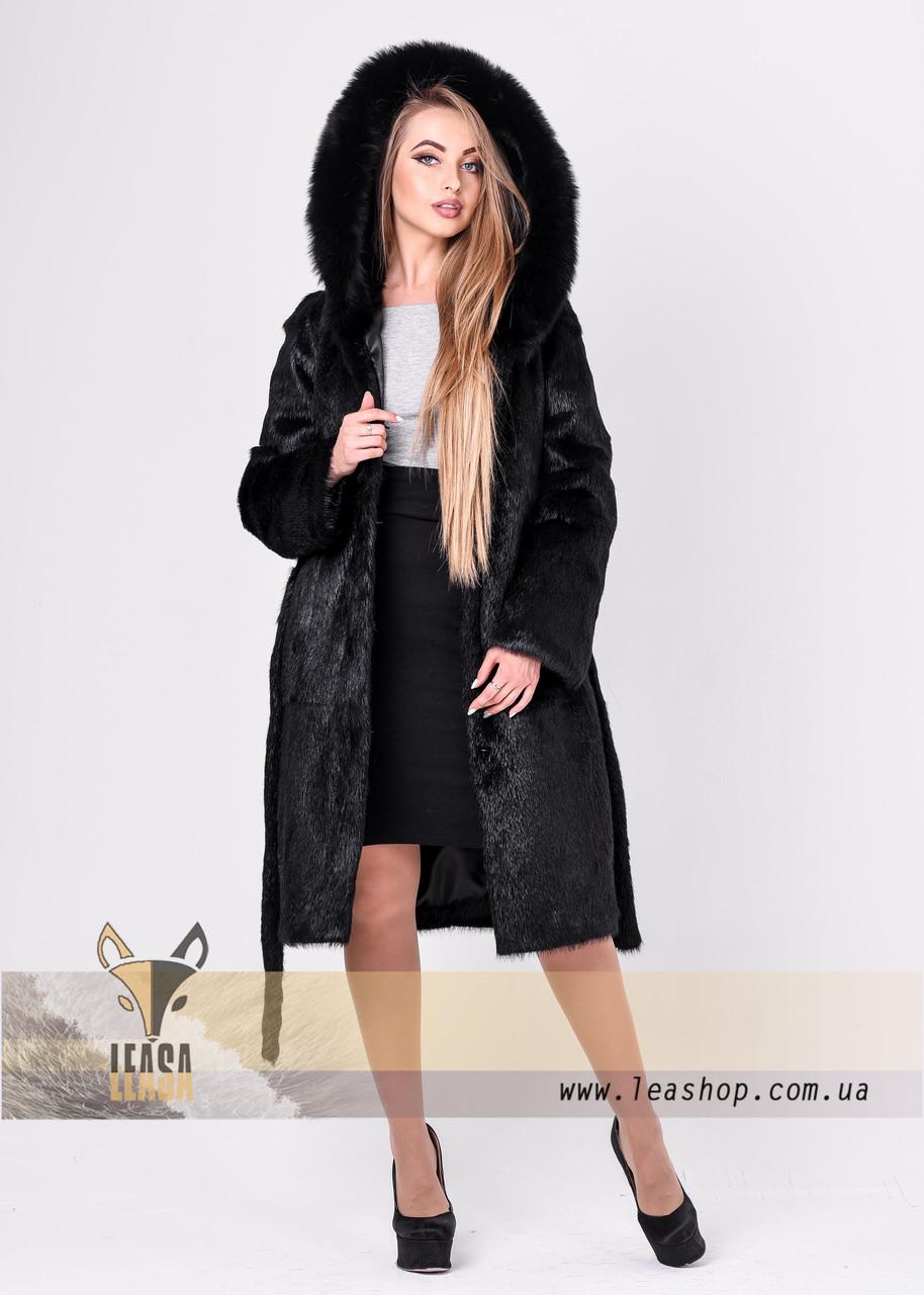 de25f2c3a0725 Женская зимняя шуба с песцовым капюшоном - Женские шубы и меховые жилетки  от Украинского производителя