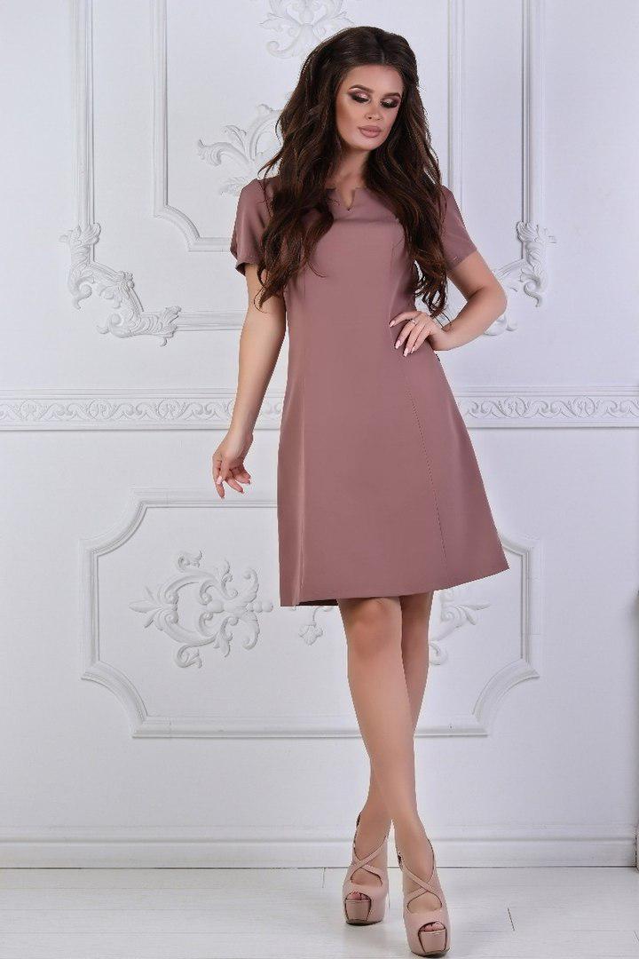 Платье приталенное с сеткой на рукаве