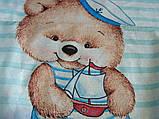 """Постельное белье """"Мишка морячок"""" поплин, фото 2"""