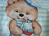 """Постільна білизна """"Ведмедик морячок"""" поплін, фото 2"""