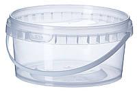 Ведро пластиковое прозрачне 0,5л