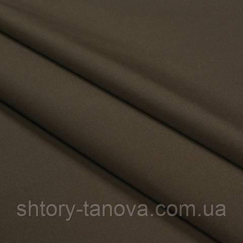 Декоративна тканина для штор однотонна коричневий