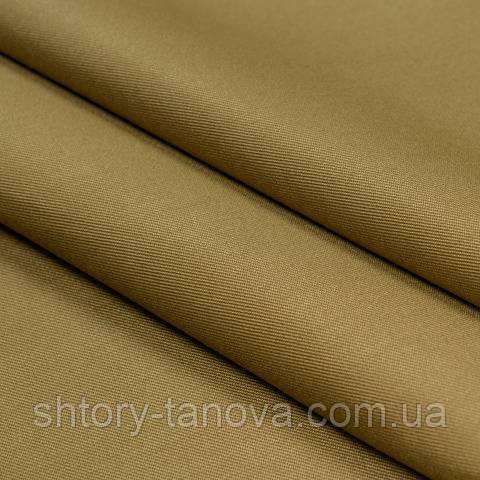 Декоративна тканина для штор однотонна темно-бежевий