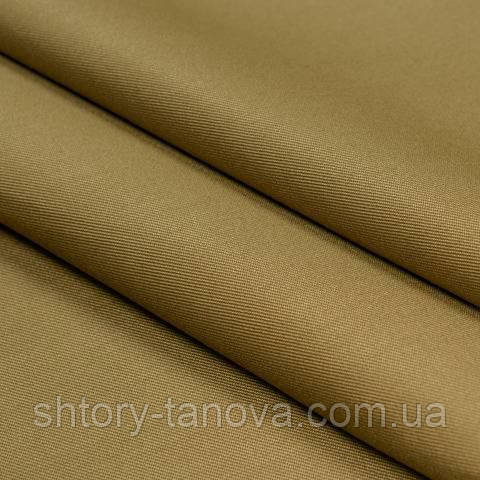Декоративная ткань для штор однотонная  тёмно-бежевый