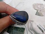 Кольцо натуральный лабрадор в серебре. Кольцо с лабрадором 18,5-19 размер Индия, фото 2