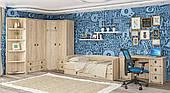 Модульная детская Мебель-Сервис Валенсия дсп дуб-сонома