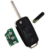 Выкидной ключ  VOLKSWAGEN,SEAT,SKODA 434Mhz CAN-Bus  id48 1J0 959 753 DA,1J0959753DA
