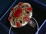 Рубин красивое кольцо в Османском стиле с рубином. Кольцо с рубином 19.3 размер. Индия!, фото 4