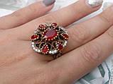 Рубин красивое кольцо в Османском стиле с рубином. Кольцо с рубином 19.3 размер. Индия!, фото 3