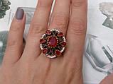Рубин красивое кольцо в Османском стиле с рубином. Кольцо с рубином 19.3 размер. Индия!, фото 5
