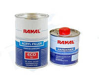 Автомобильный грунт акриловый Ranal EKO 5+1 1л комплект (серый)