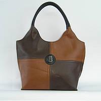Женская сумка с комбинированными вставками