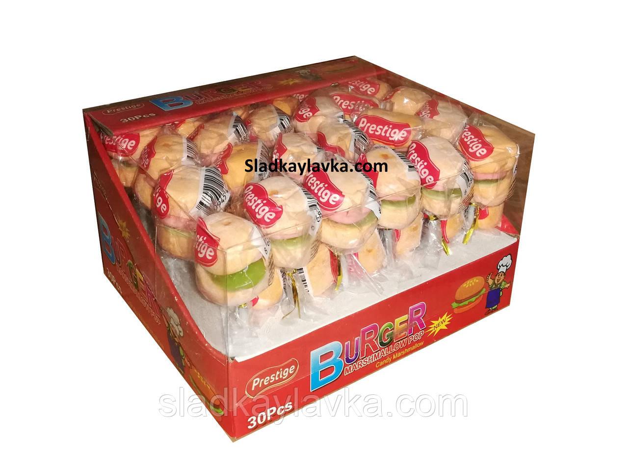 Жевательная конфета Burger Marshmallow 30 шт (Prestige)