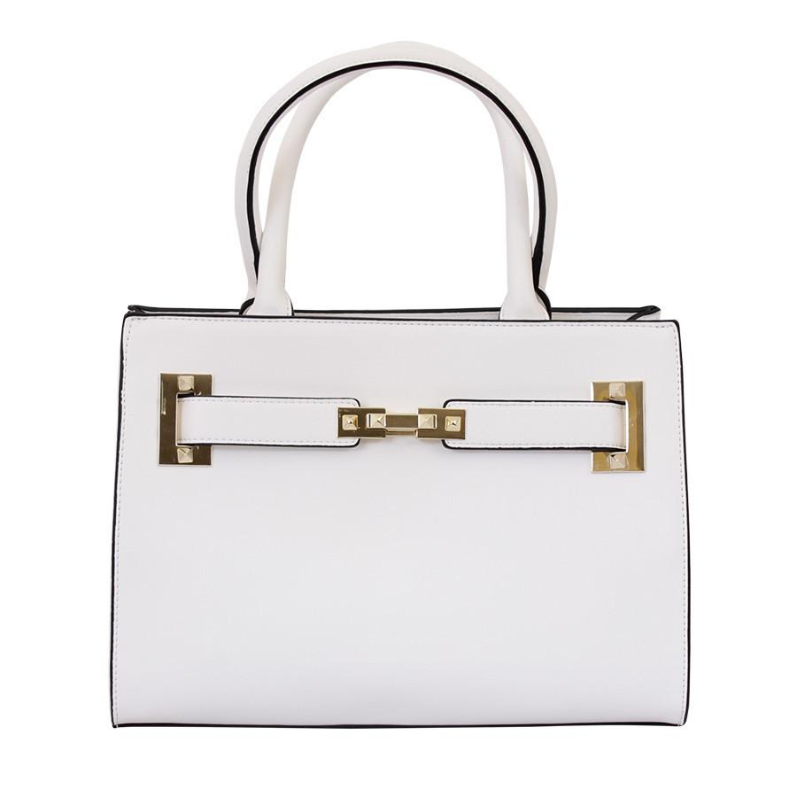 Каркасна сумочка сіра