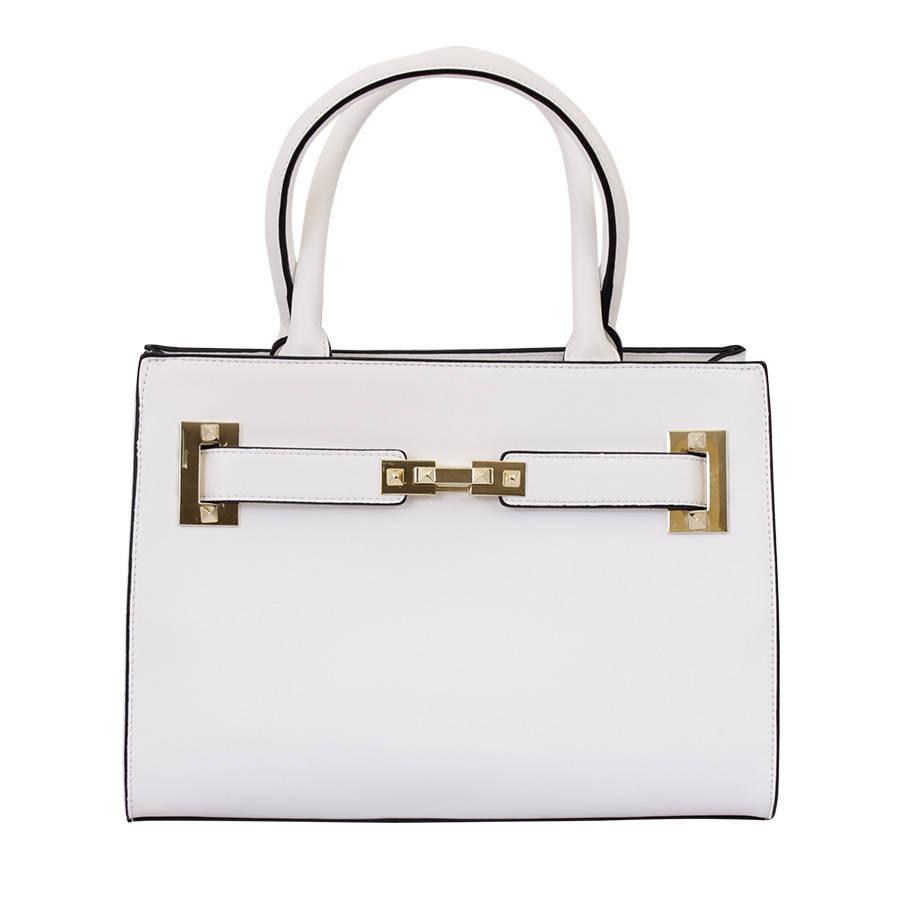Каркасная сумочка серая