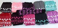 Детские теплые вязанные гамаши для девочки
