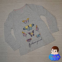 Кофта для дівчинки р. 110-116 / Футболка с длинным рукавом лето