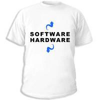 "Админские футболки ""Software Hardware"""