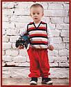 Детские велюровые штаны красные для мальчика р. 80-98 см  (Nicol, Польша), фото 4