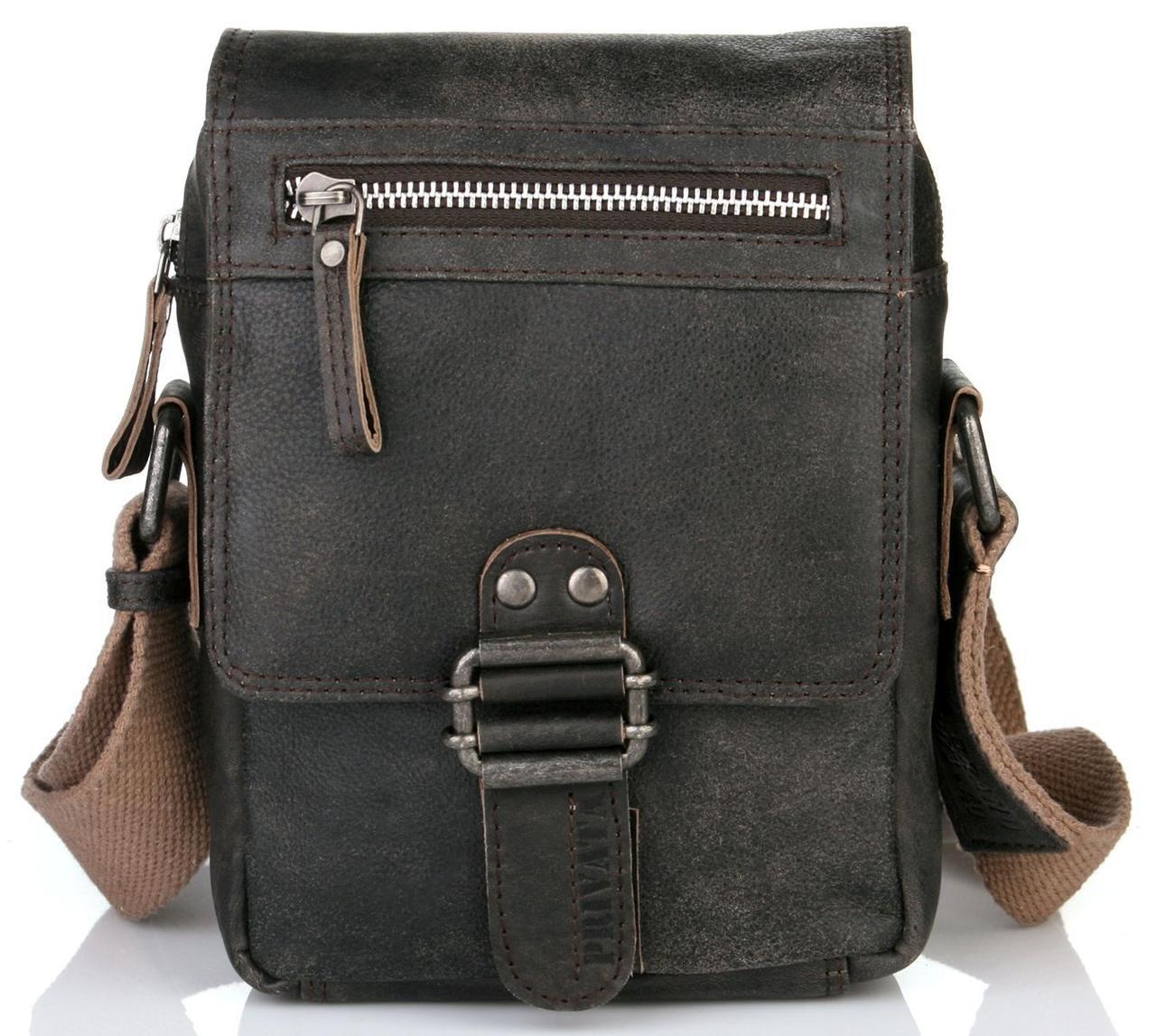 f7e85e258c4c Элитная мужская сумка из натуральной кожи Privata 03400138-01, Черный -  Интеренет магазин сумок