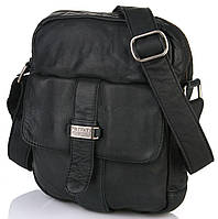 bc7513a870ed Прикольная мужская сумка из натуральной кожи Privata 03400586-01, Черный