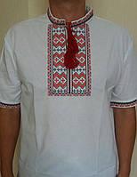 Мужская вышитая сорочка на короткий рукав. Размеры 46-54
