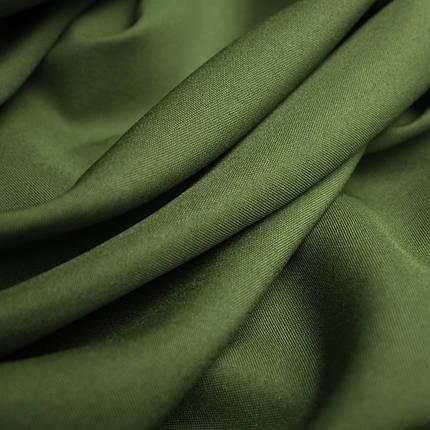 Костюмная ткань габардин хаки, фото 2