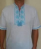 Мужская вышиванка на короткий рукав. Размеры 46-54.