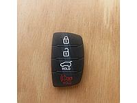 Резиновые сменные кнопки на корпус выкидного ключа Hyundai  4 кноки новый вид.