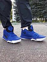 Баскетбольные мужские кроссовки Nike Kyrie 3 Authentic Royal Blue Black from Kyrie Irving реплика