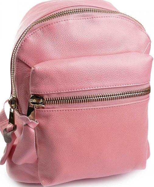 8ca9b8a8f869 Стильный рюкзак из натуральной кожи розового цвета - Интернет-магазин  стильных сумок