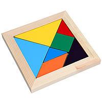 Игра головоломка Танграм деревянный