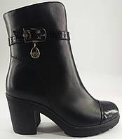 Ботинки демисезонные из натуральной кожи на каблуке от производителя модель Б - 620-2В