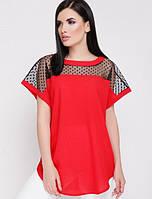 Женская свободная блузка с сеткой сверху (Verona fup)