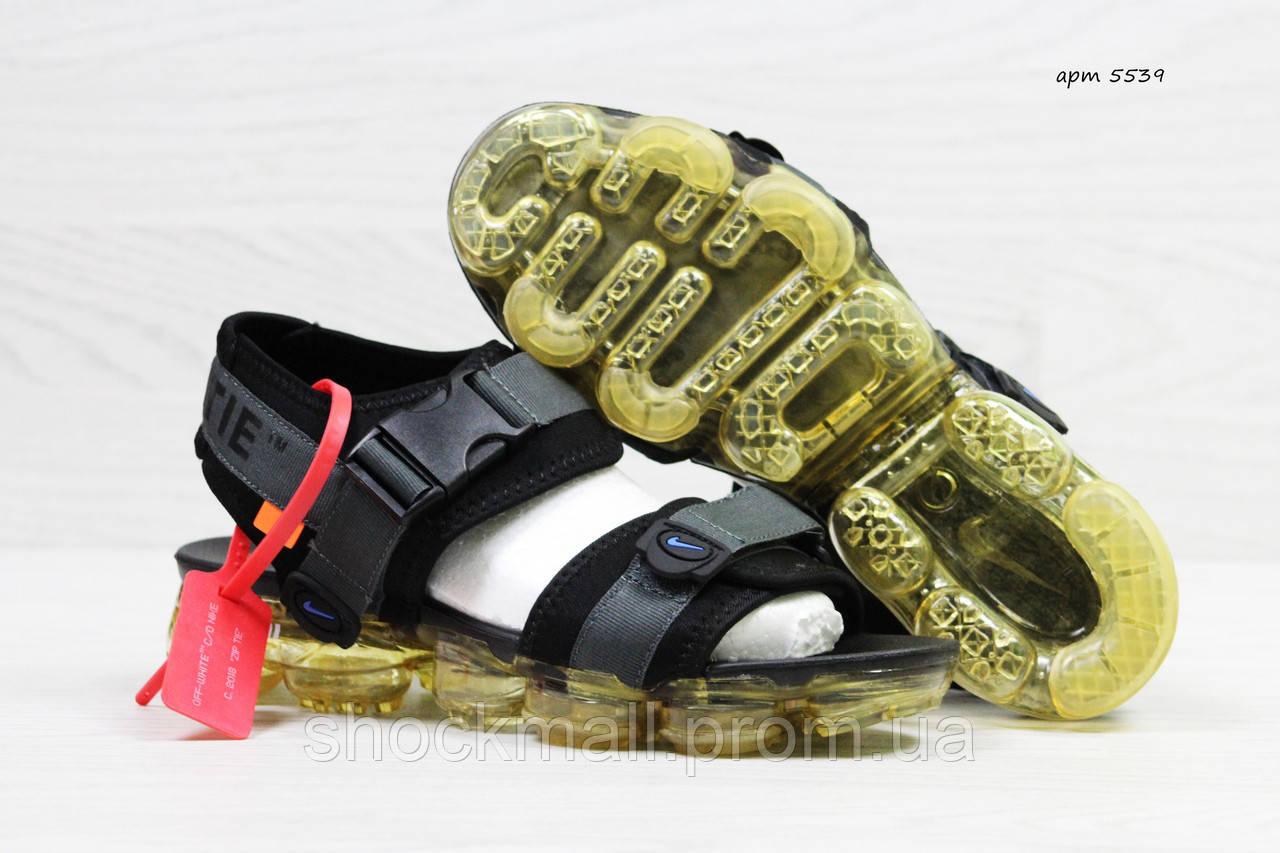 4d2e8071 Сандалии мужские Nike Sandals Off white x Nike Air VaporMax босоножки  Вьетнам реплика - Интернет магазин