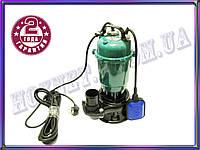 Насос дренажно фекальный WQD10-10-1,1 кВт (чугун)  для выгребных ям,грязной воды Дренажные и фекальные насосы