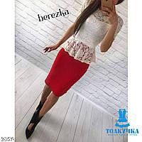 Костюм женский блузка и юбка баска 42 44 46 48 50 Р, фото 1