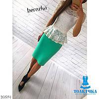 Костюм жіночий блузка і спідниця баска 42 44 46 48 50 Р