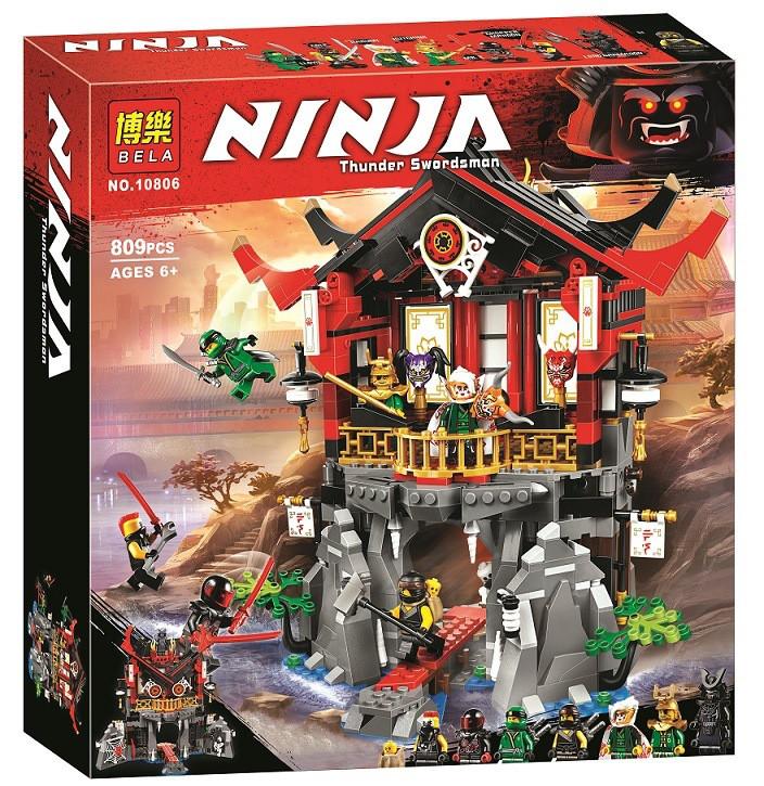 """Конструктор Ninja Bela 10806 (аналог Lego Ninjago 70643) """"Храм воскресения"""", 809 дет"""