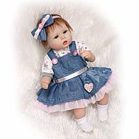 Кукла реборн Лиза, мягконабивная 40 см, ручная работа