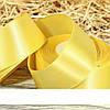 Атласная лента 4 см. желтый