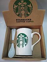 Керамическая чашка Starbucks (+ложечка) H230