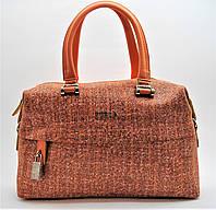 Женская кожаная сумочка GАLАNTY оранжевого цвета BEР-024188, фото 1