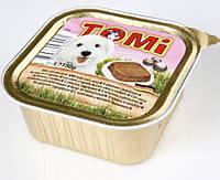 Консервы корм для собак TOMi МЯСО ЯГНЕНОК (veal, lamb)  паштет 150 г